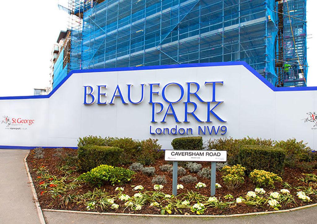 Beaufort Park site hoarding