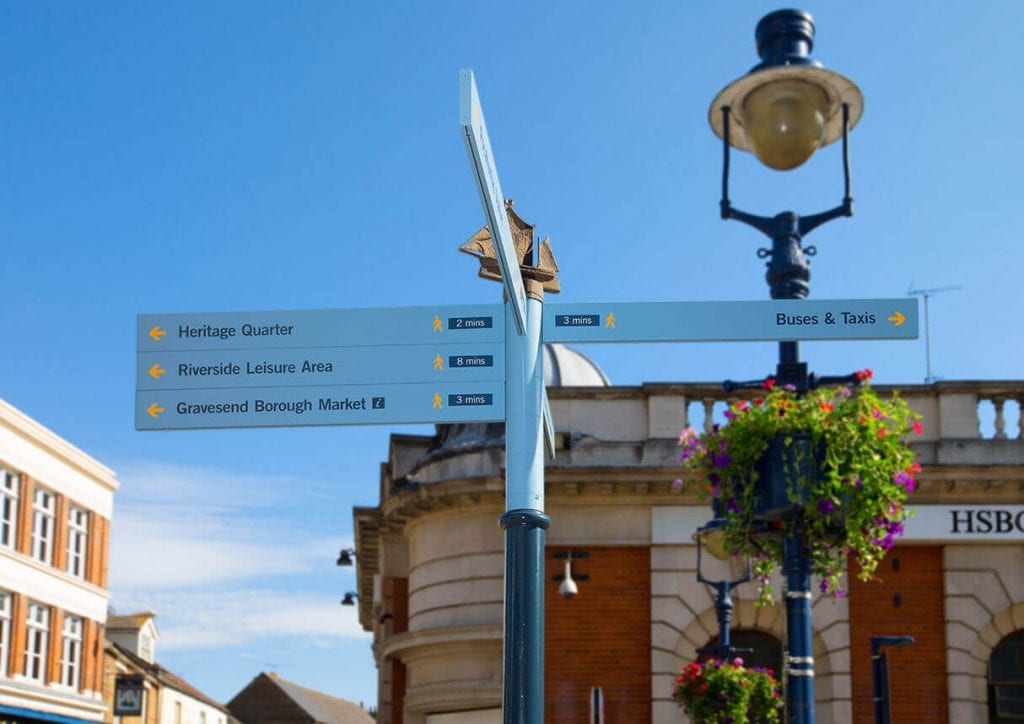 Gravesend Borough Council wayfinding signs