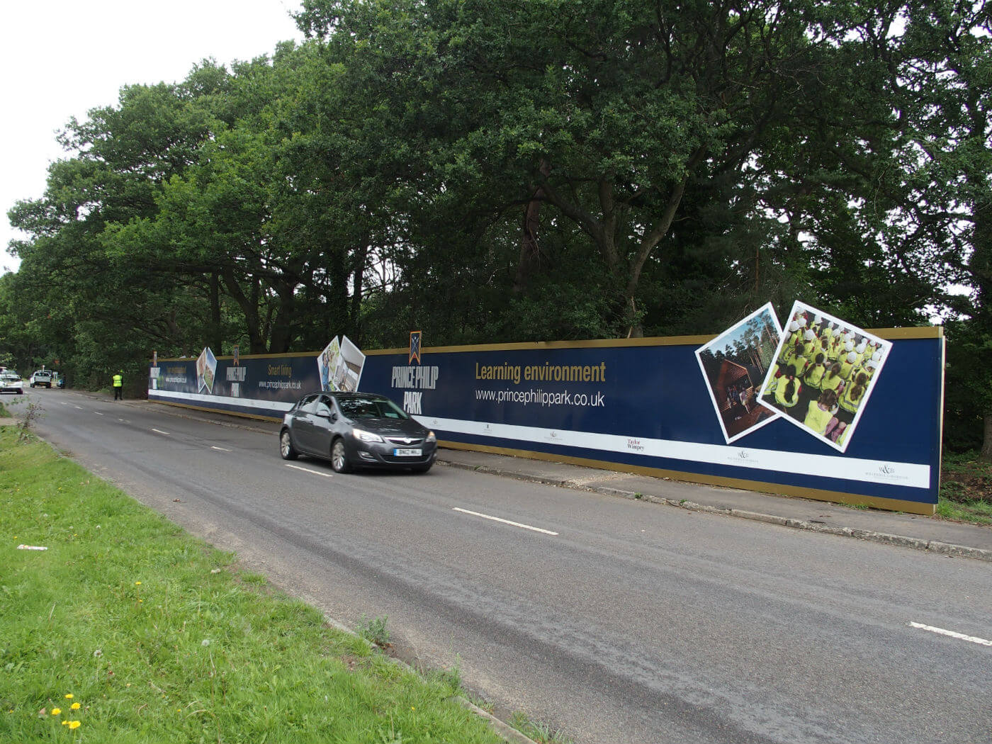 We were briefed to design the hoarding using specific logos, CGI's, strap lines and pictures