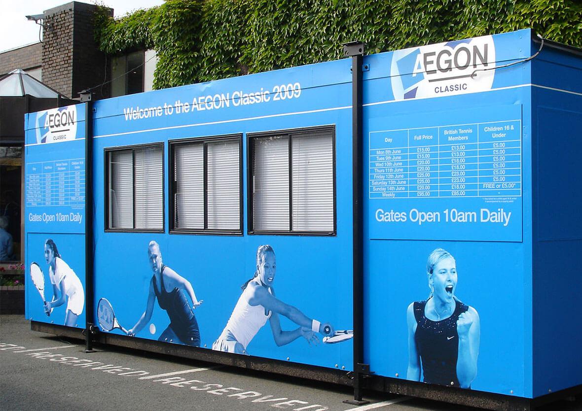 Aegon Classic tennis event signage