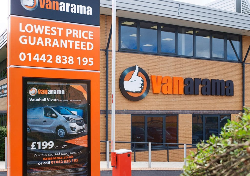 Vanarama new corporate HQ signage