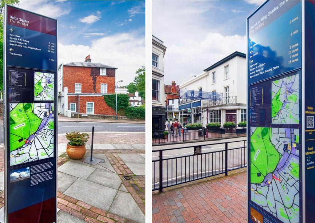 Wayfinding Monoliths Tunbridge Wells Borough Council