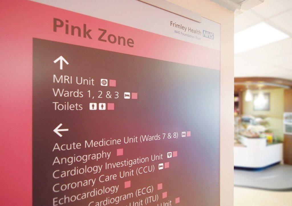 Wexham Park Hospital wayfinding signage