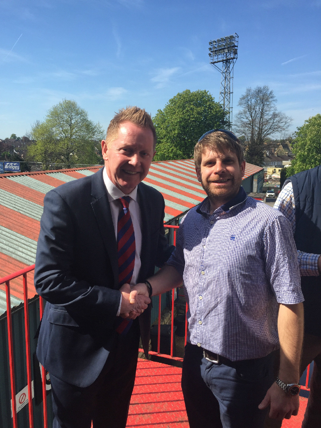 Reade Signs proud to be at Aldershot FC's new manager press conference