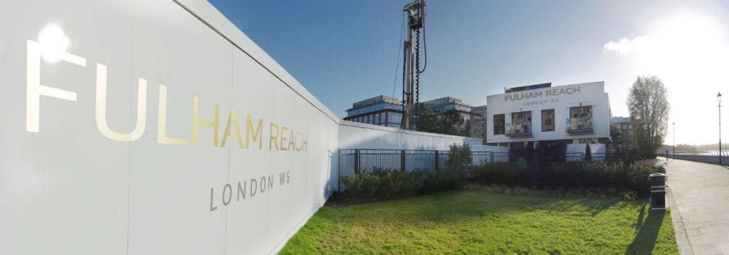 Fulham Reach London Hoarding