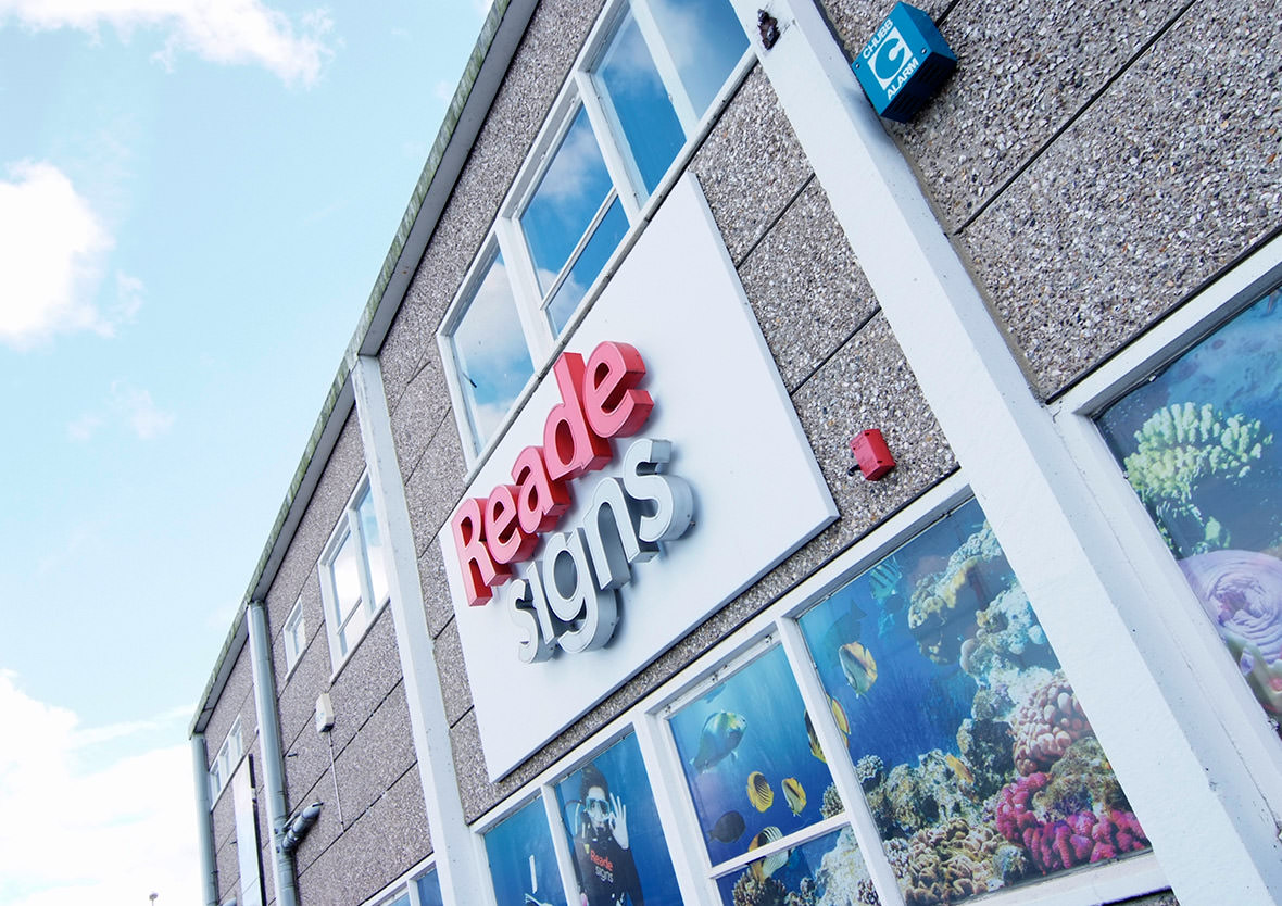 Reade Signs Office Branding