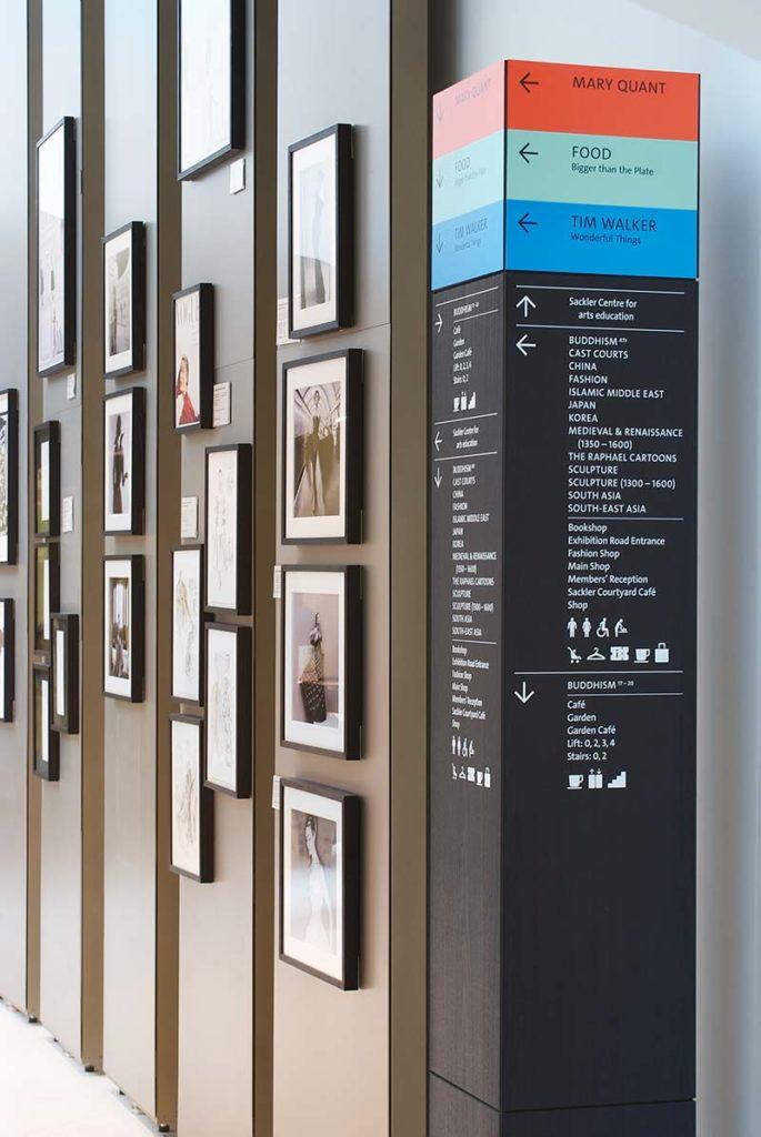 V&A Museum wayfinding signage