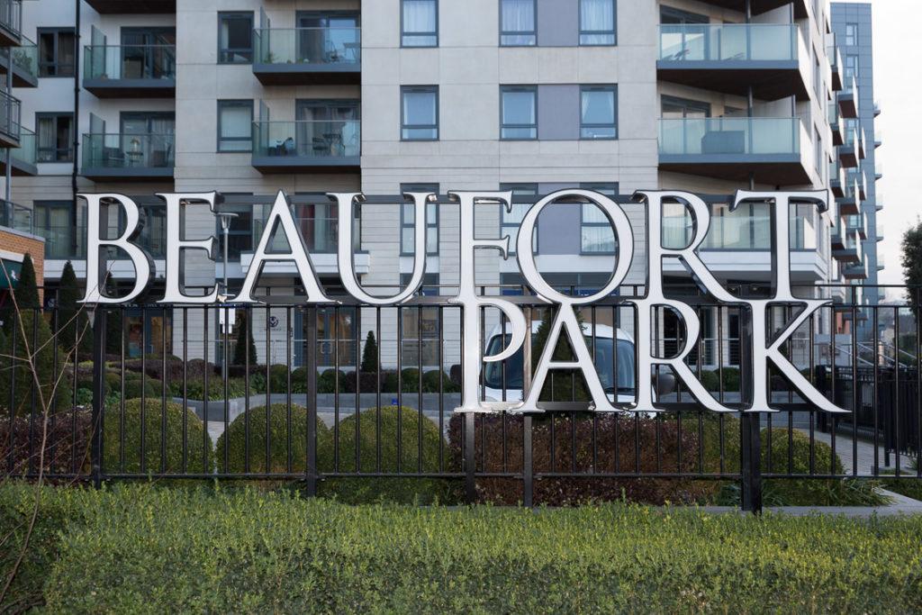 Beaufort Park large illuminated letters