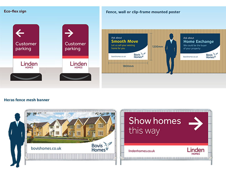 Bovis Homes & Linden Homes Marketing Suite Signage