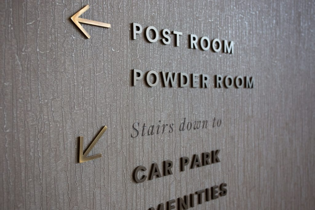 Permanent Internal Wayfinding Signs
