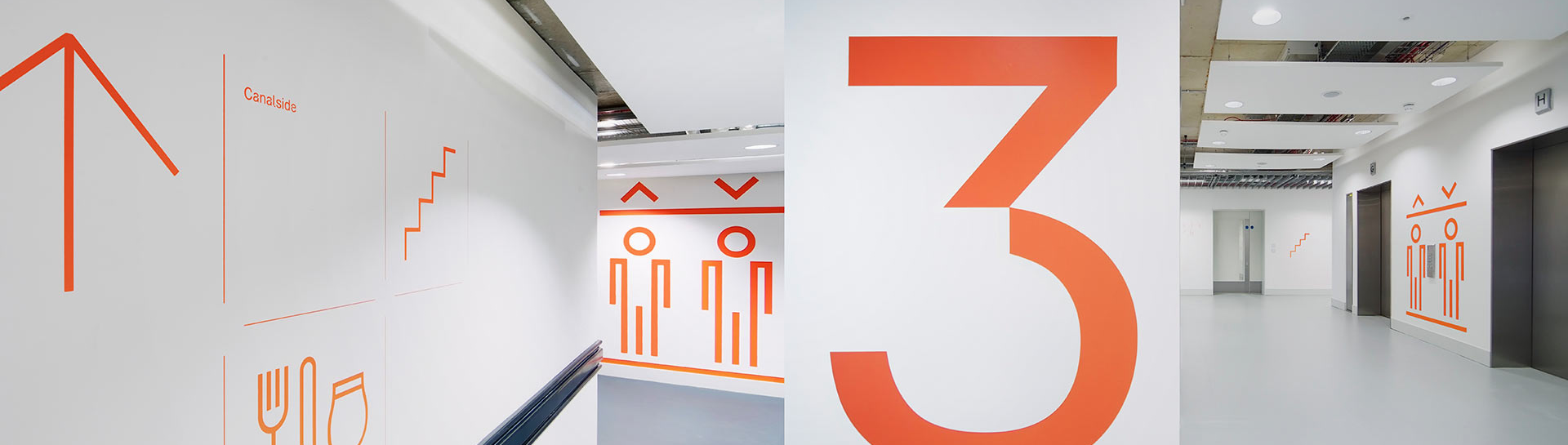 Wayfinding signage by Reade Signs